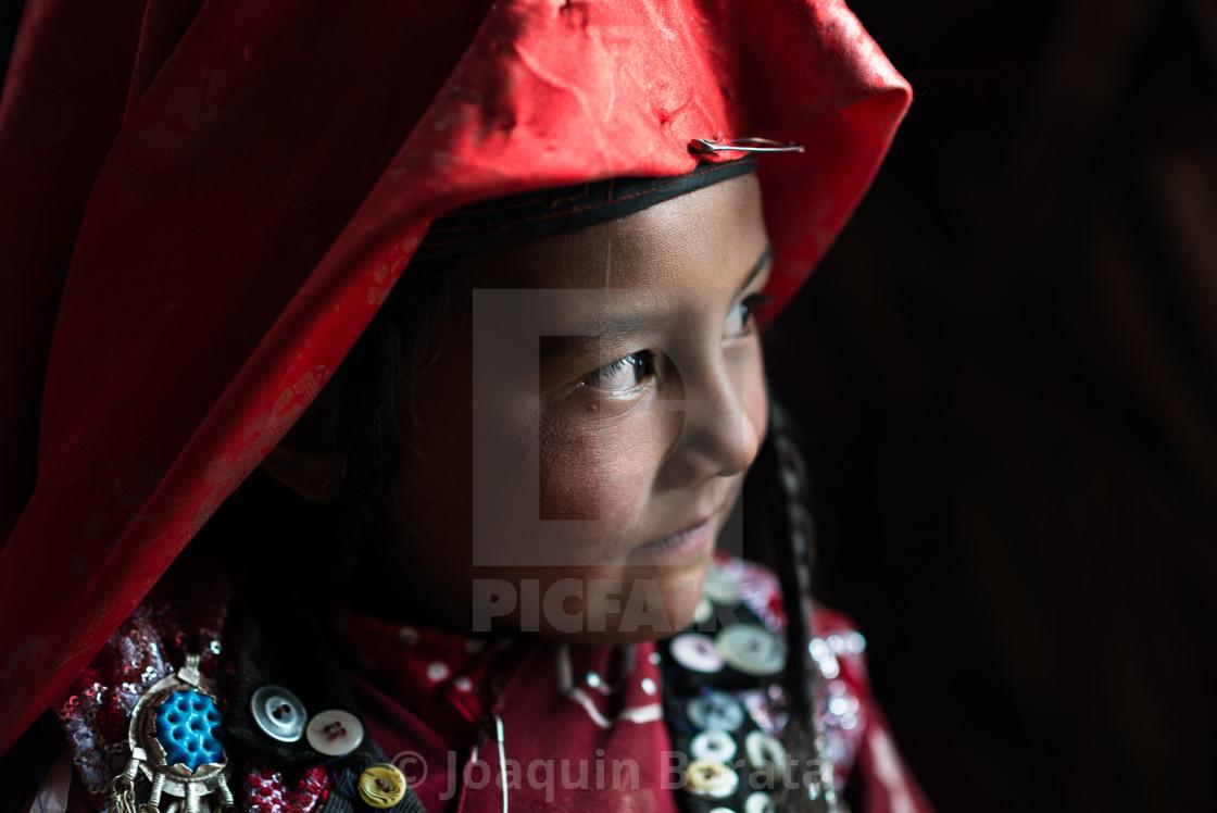 """""""Young Kyrgyz girl"""" stock image"""