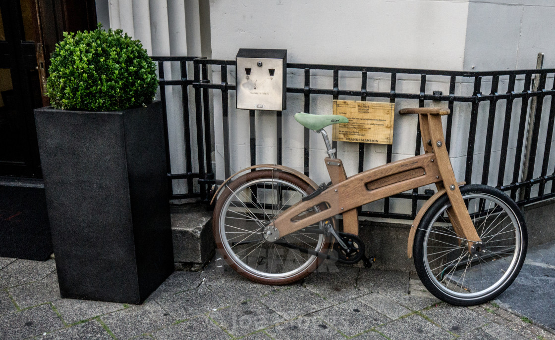 """Dutch wooden bike"" stock image"