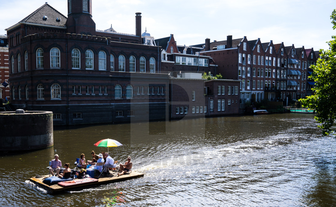 """Unique, homemade boat"" stock image"