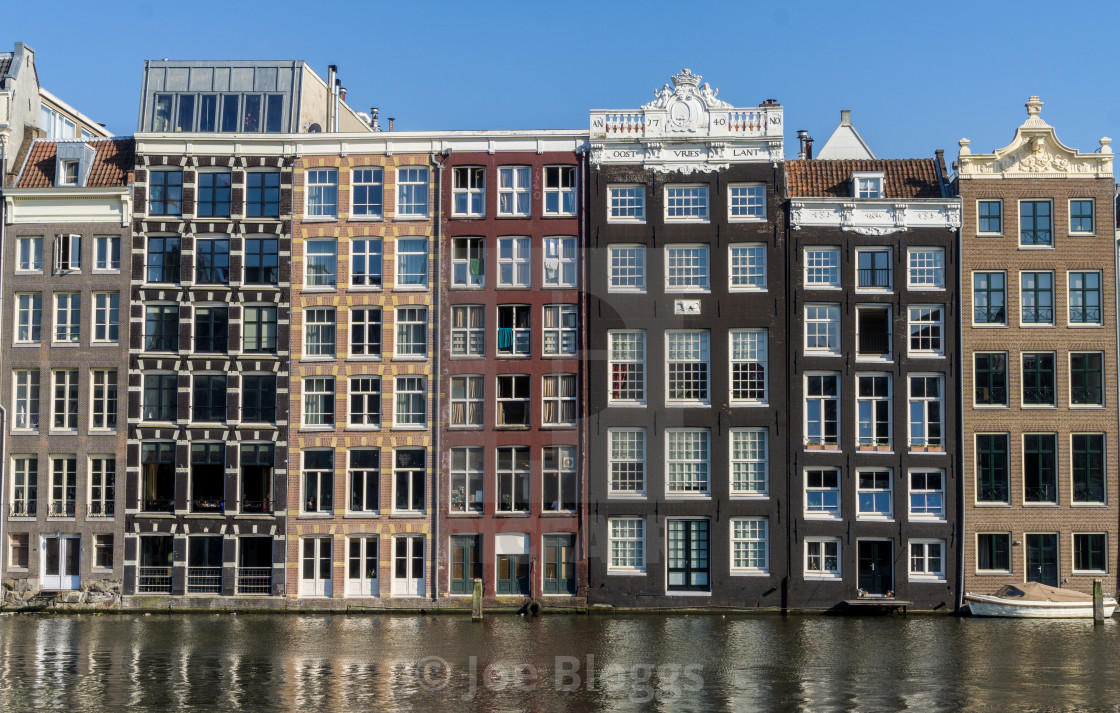 """""""Dutch apartments on water"""" stock image"""
