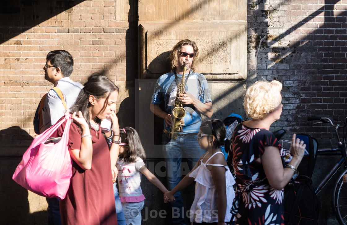 """Saxophonist"" stock image"