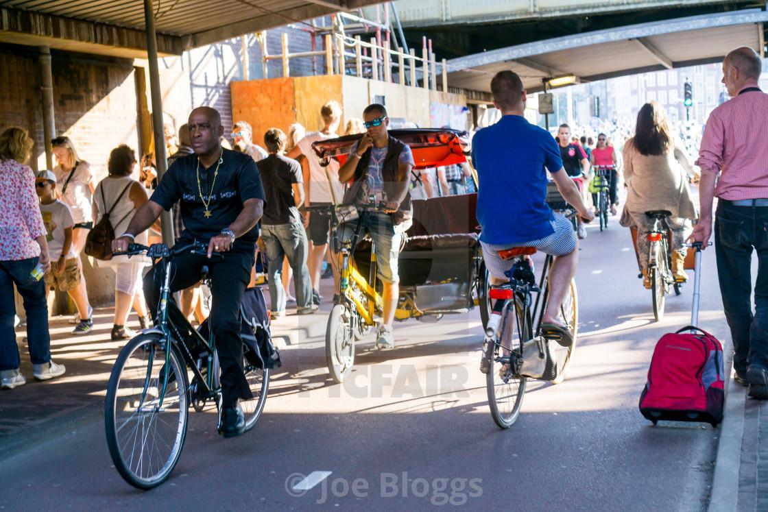 """Amsterdam cycle path"" stock image"