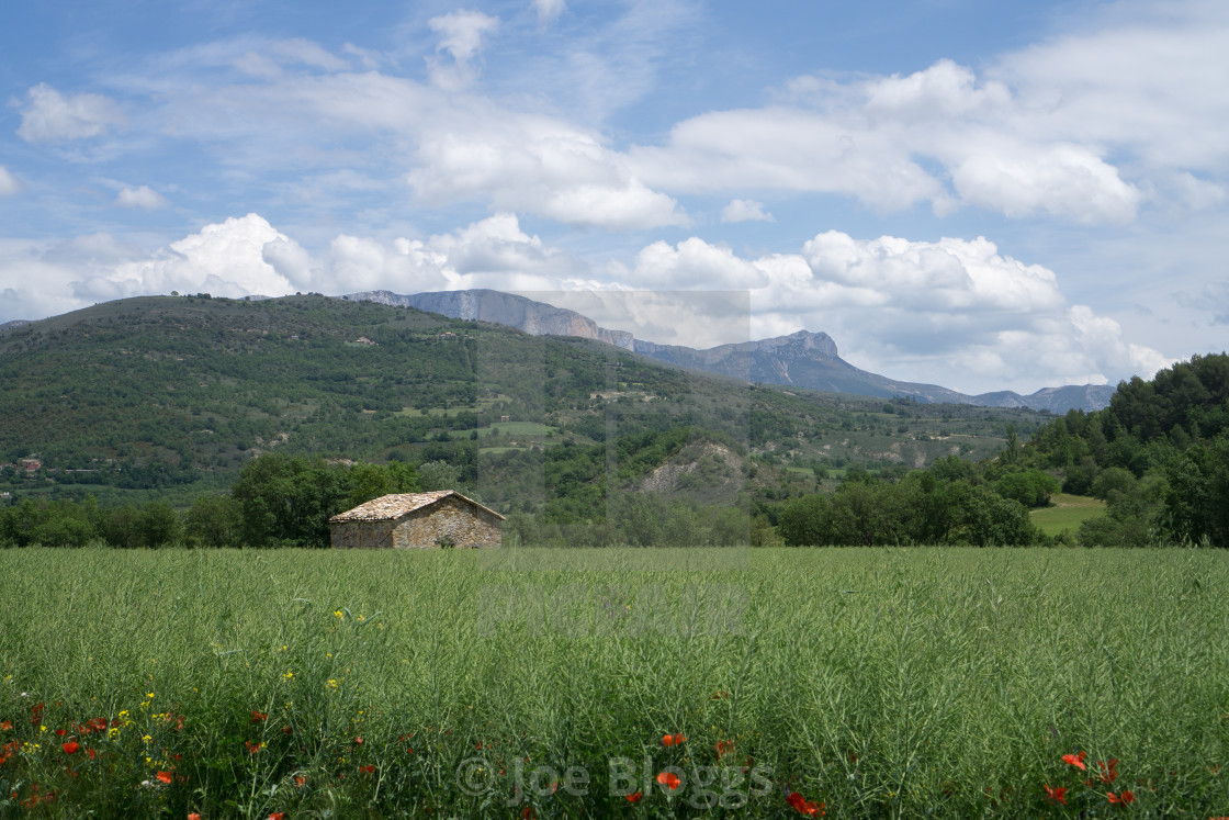 """""""Isolated building in Spanish Pyrenees"""" stock image"""