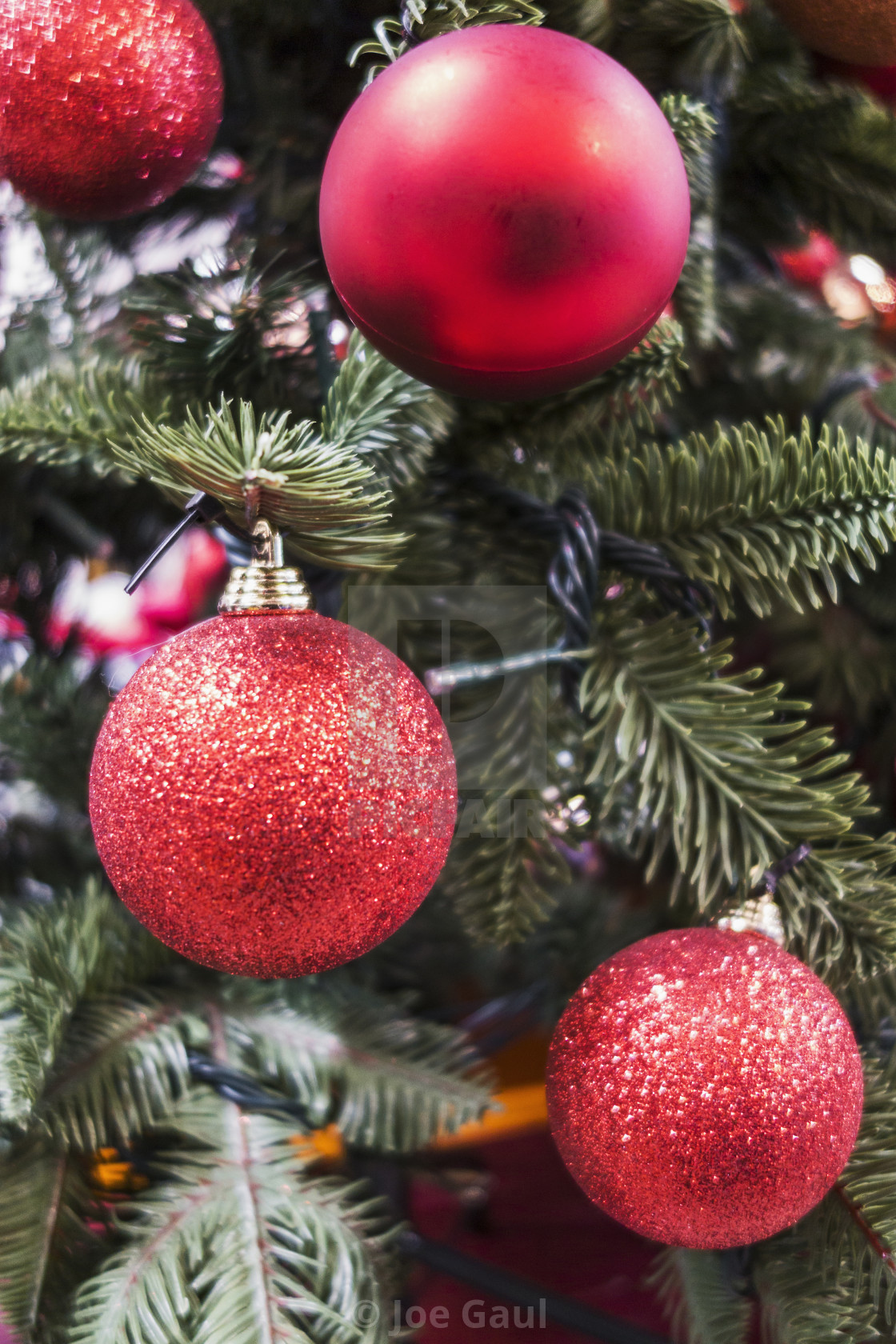 Christmas Baubles On Christmas Tree   License For £12.40 On Picfair