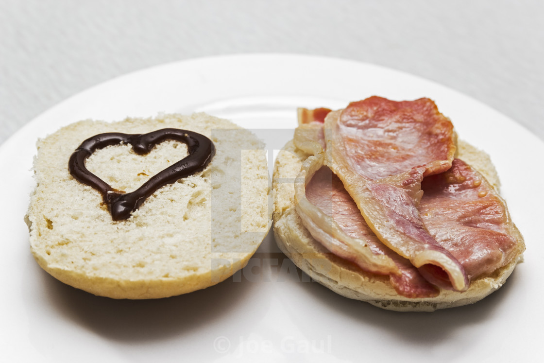 """Love bacon sandwiches"" stock image"