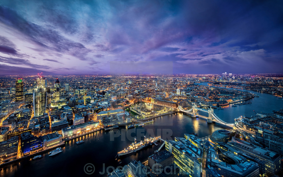 """London - Birds Eye View"" stock image"