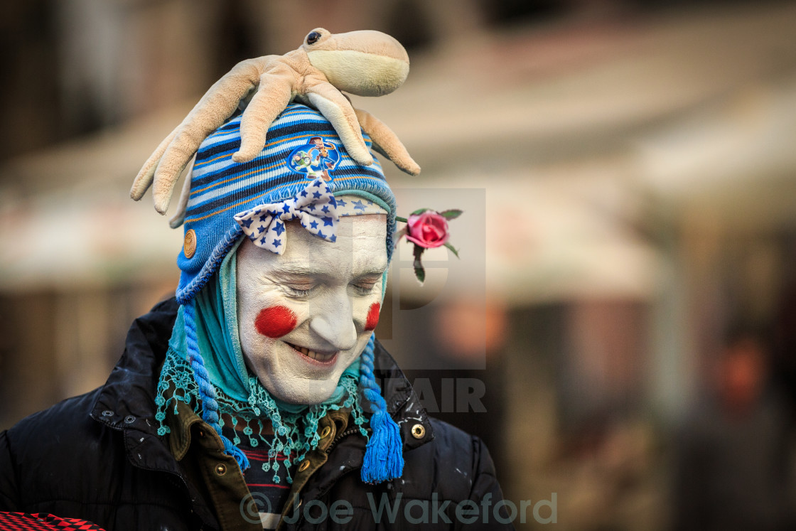 """Mime artist in Prague"" stock image"