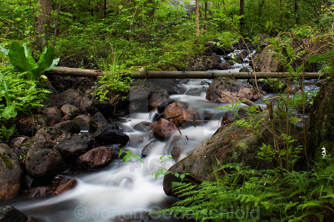 """Small waterfall"" stock image"