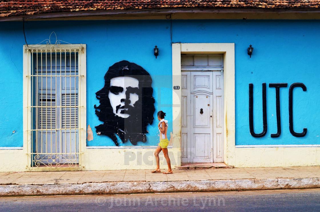 """""""Che Guevara mural"""" stock image"""