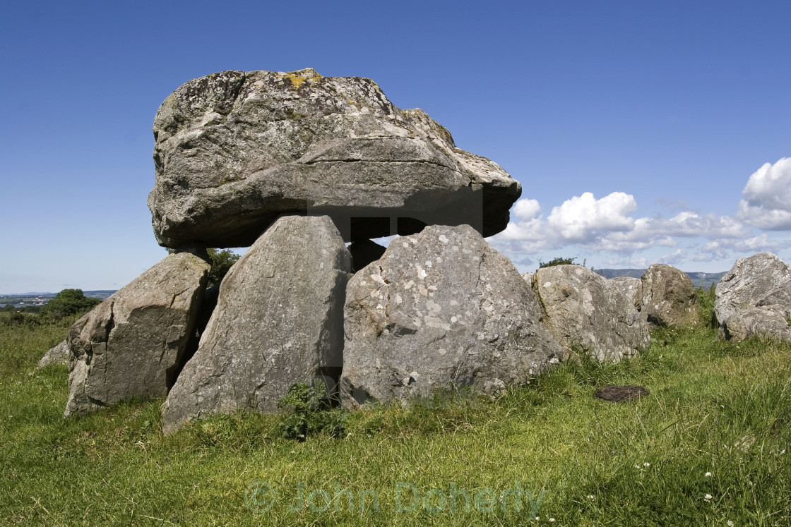 """Dolmen at Carrowmore Megalithic Cemetery"" stock image"