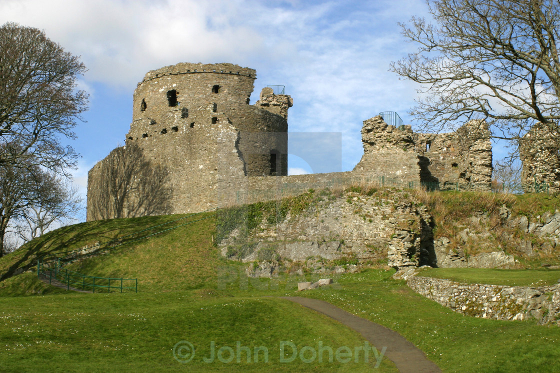 """Dundrum Castle in Northern Ireland"" stock image"