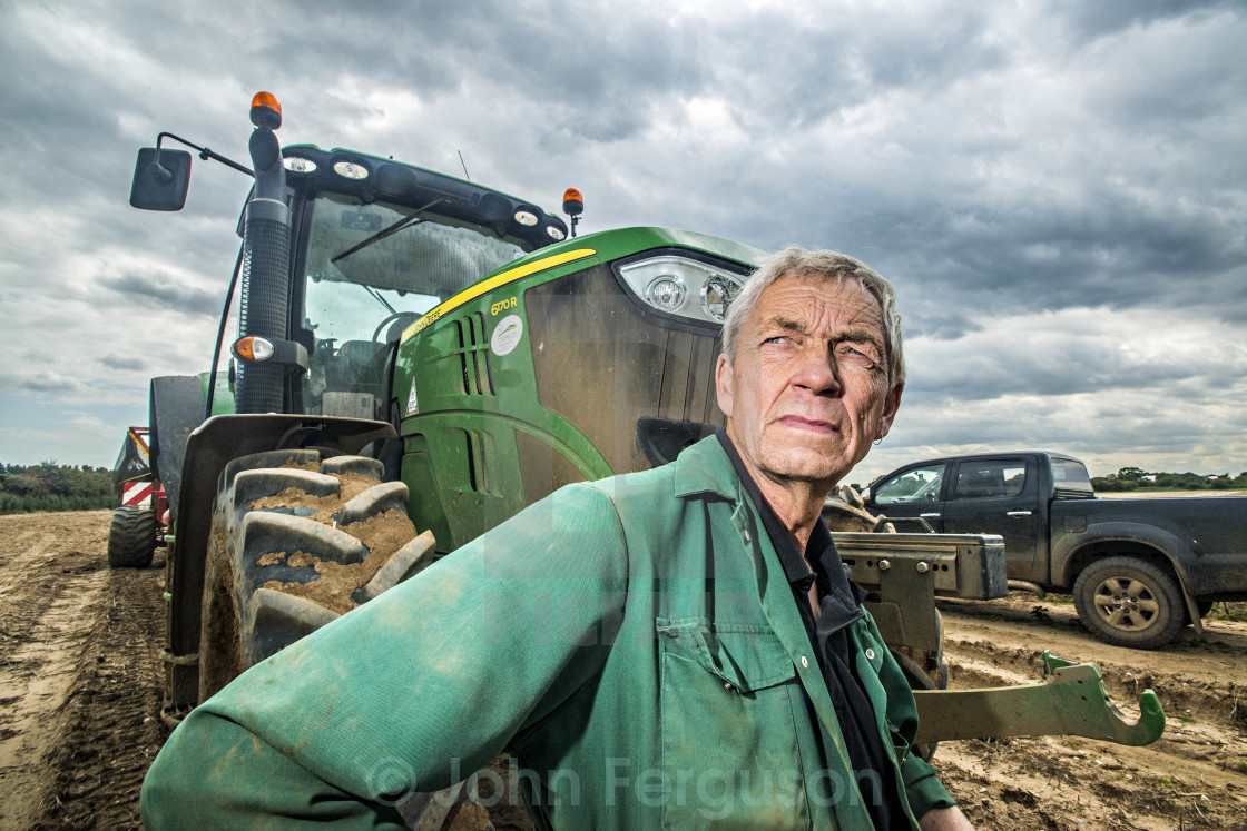 """Farm worker"" stock image"