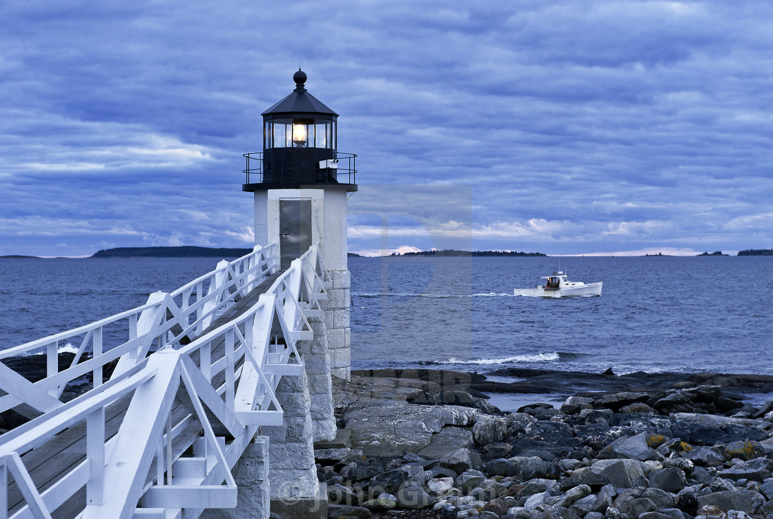 """""""Marshall Point Light, Port Clyde, Maine, USA."""" stock image"""