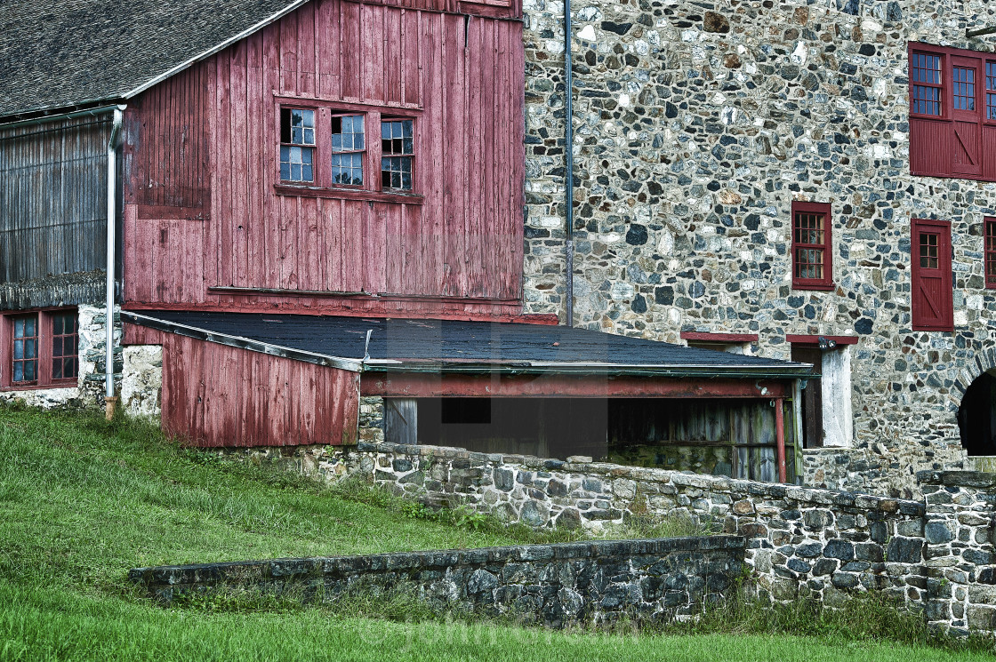"""""""Rural field stone barn, Stroud Preserve, West Chester, Chester County, Pennsylvania"""" stock image"""
