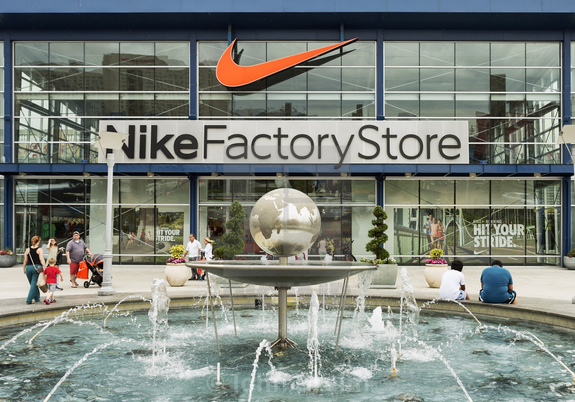 Nike Factory store outlet, Atlantic City, New Jersey, USA - License ...