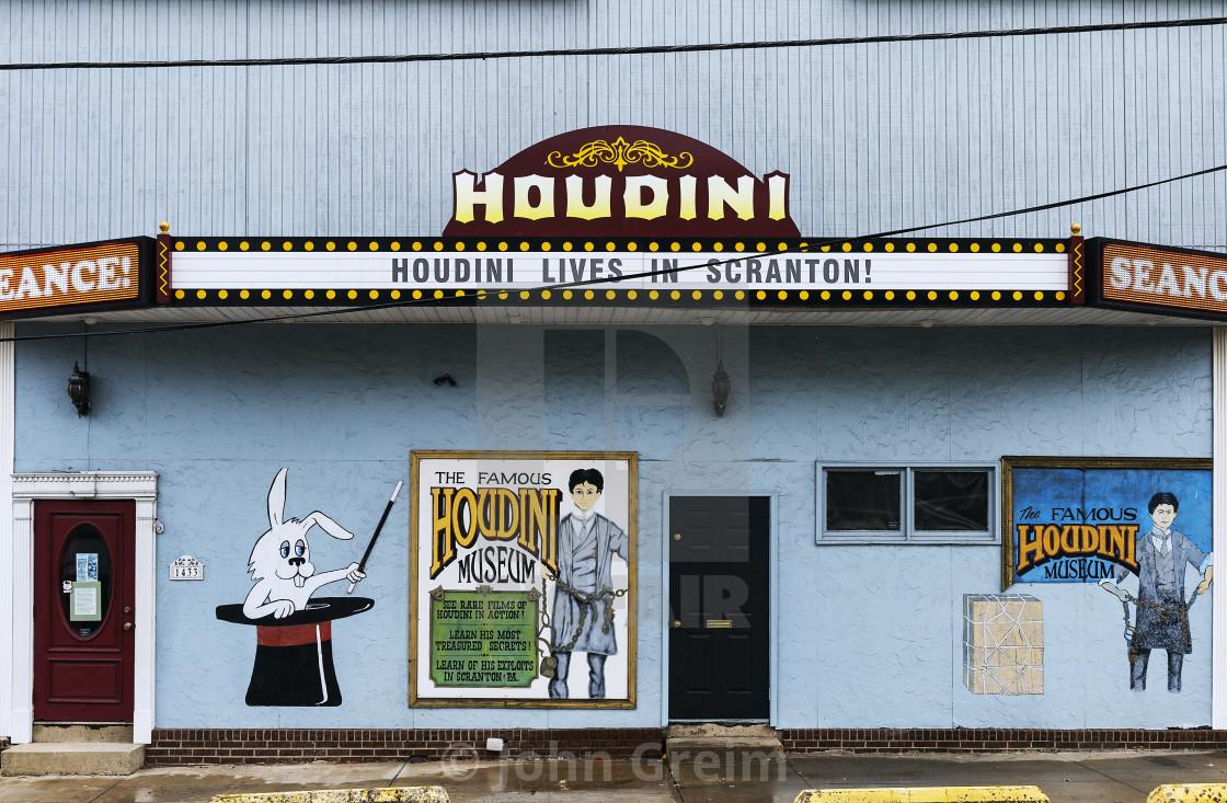 Houdini Museum, Scranton, Pennsylvania, USA - License