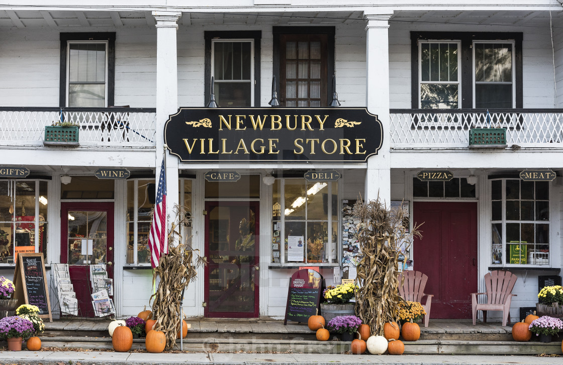 """Charming village store, Newbury, Vermont, USA."" stock image"