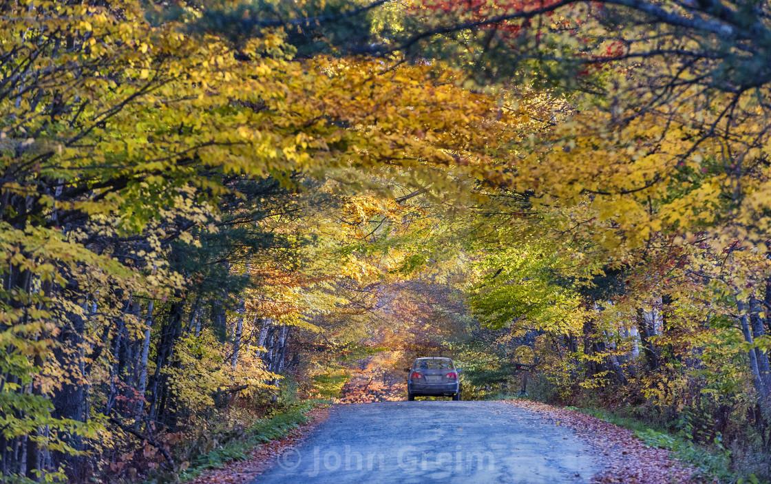 """Autumn scenic, Newbury, Vermont, USA."" stock image"