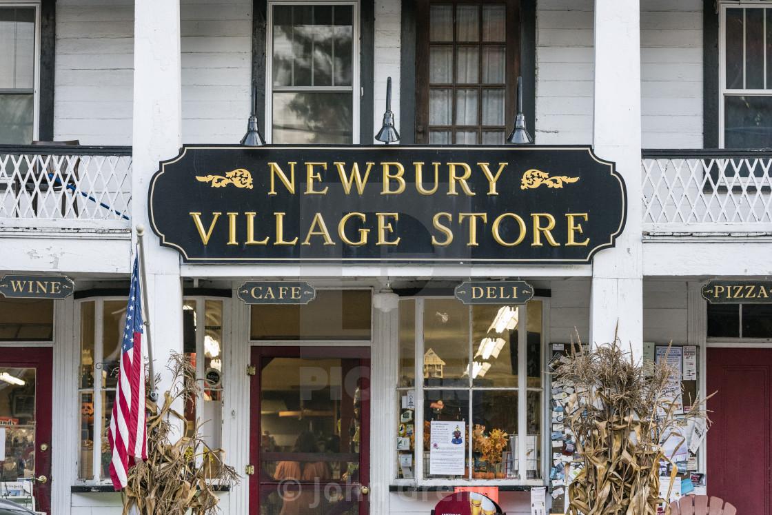 """Charming village store, Newbury, Vermont, USA"" stock image"
