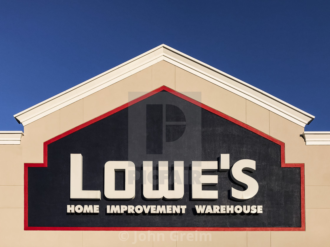 """Lowe's home improvement superstore."" stock image"