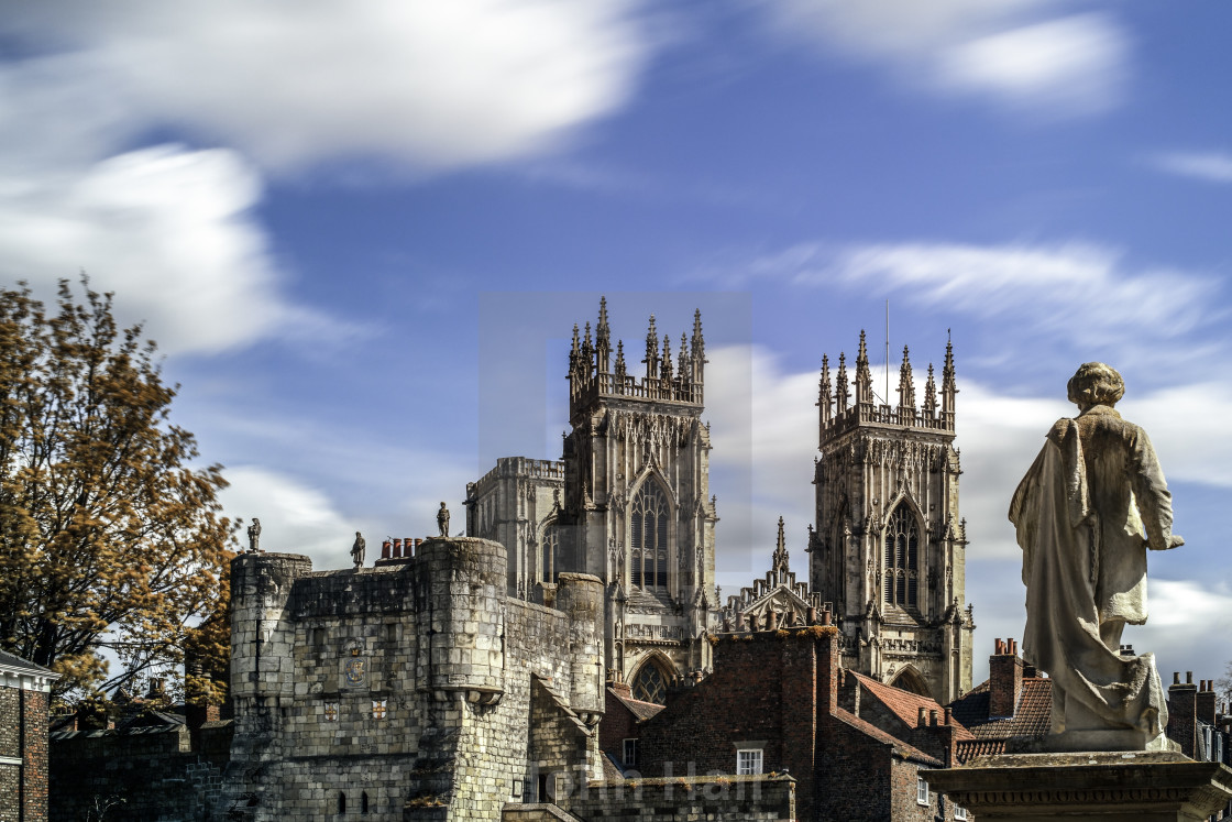 """York Minster and William Etty"" stock image"