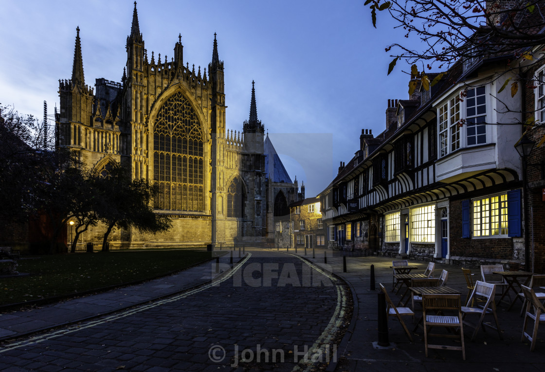 """York Minster a view from College Street York"" stock image"