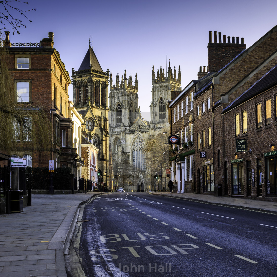 """York Minster approach"" stock image"