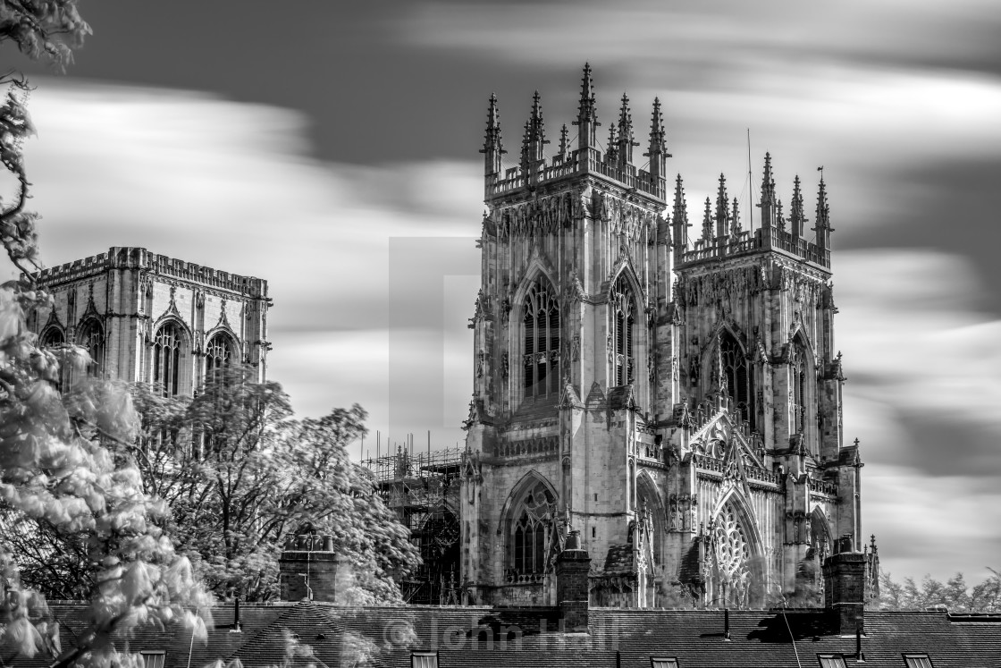 """York Minster in Black and White"" stock image"