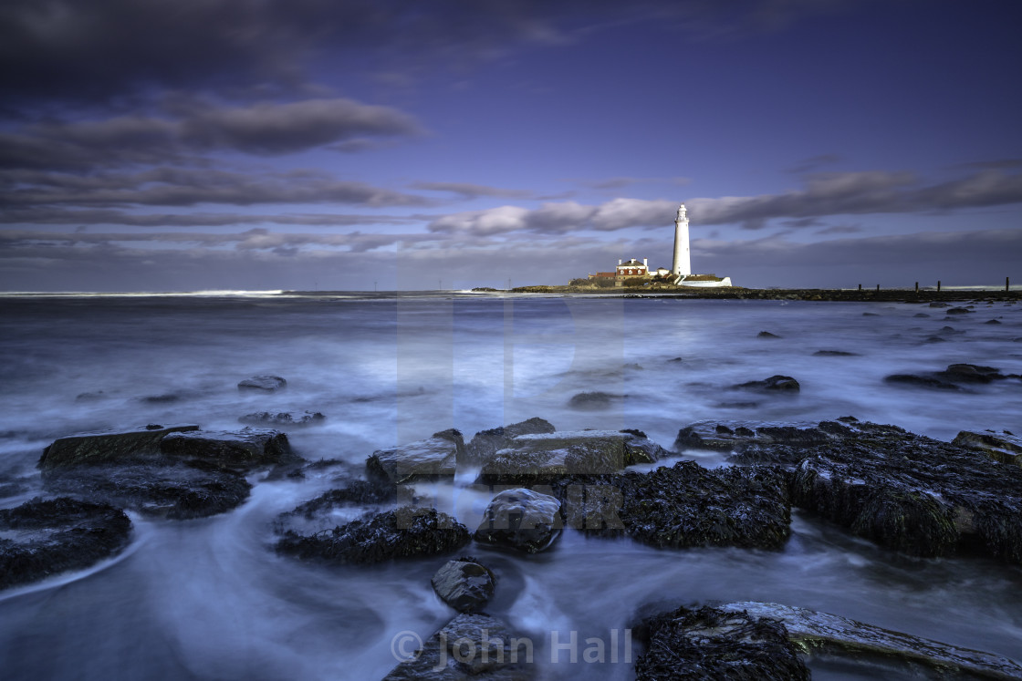 """St Mary's Lighthouse Whitley Bay"" stock image"