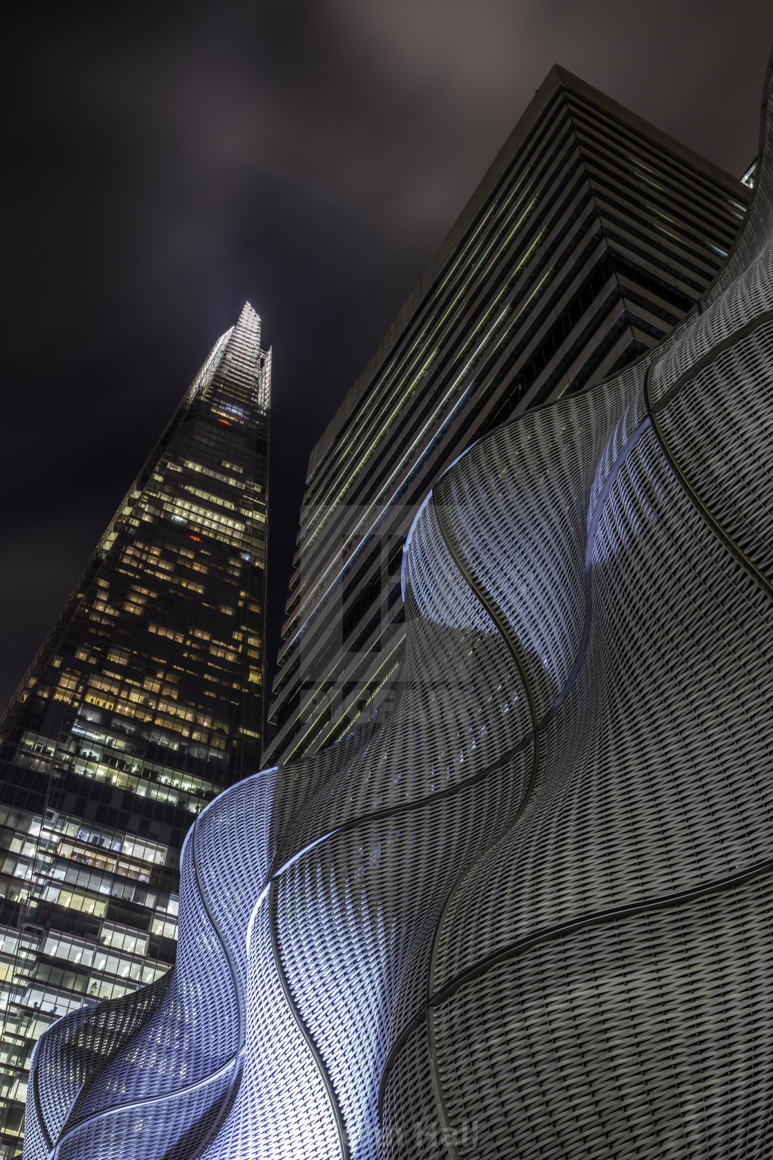 """Below the Shard, London"" stock image"