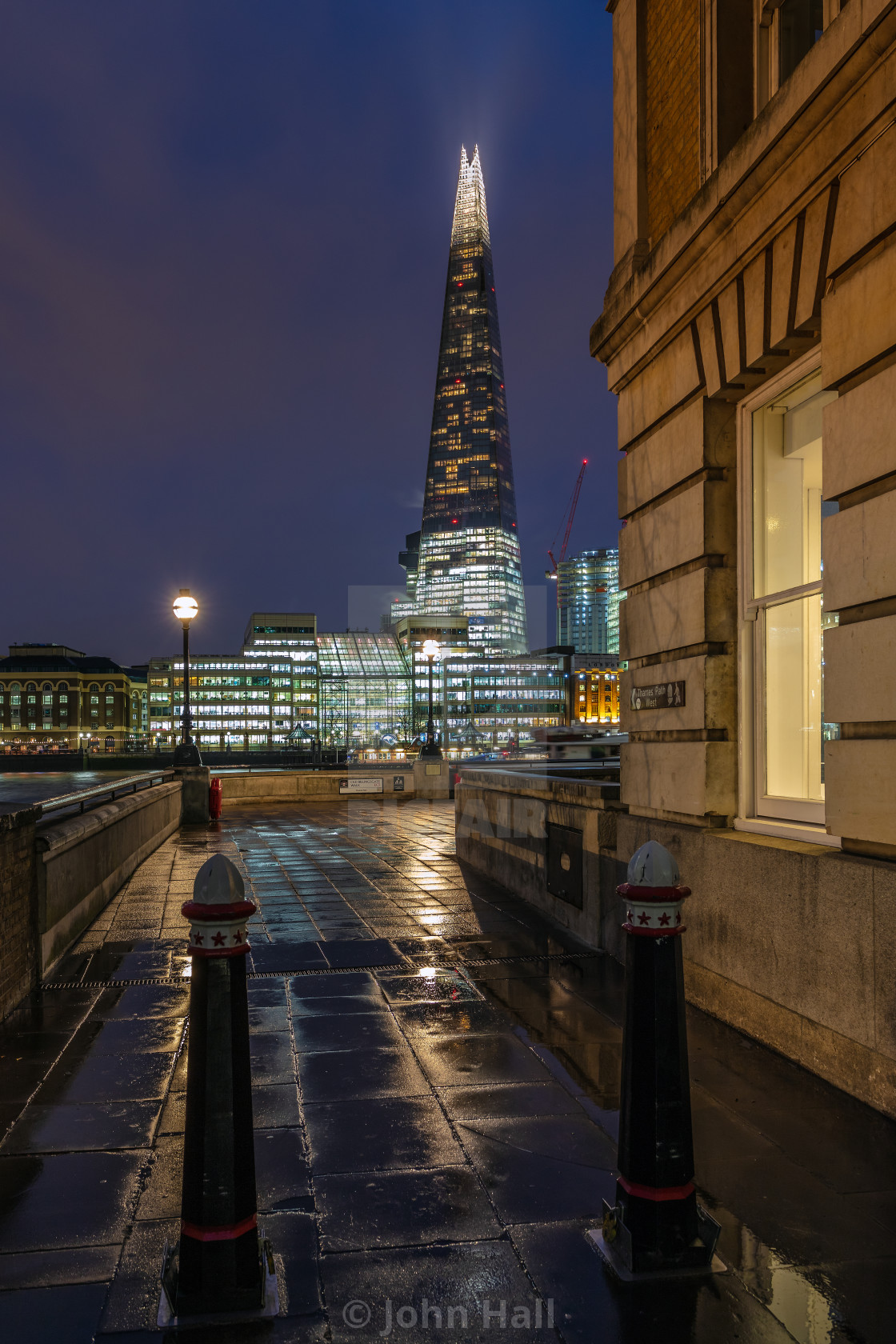 """The Shard from Old Billingsgate Walk, London"" stock image"