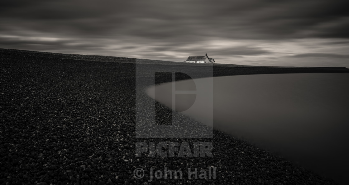 """Beacon Cottages at Shingle Street"" stock image"