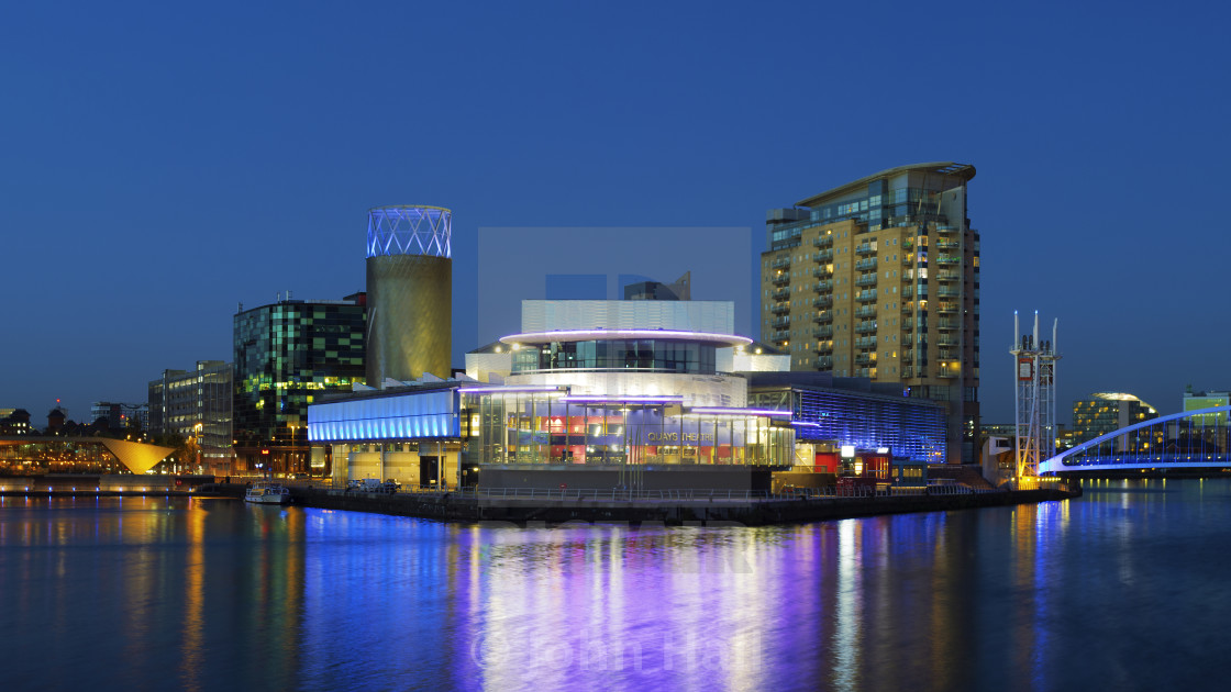 """Quays Theatre, Salford, Manchester, England"" stock image"