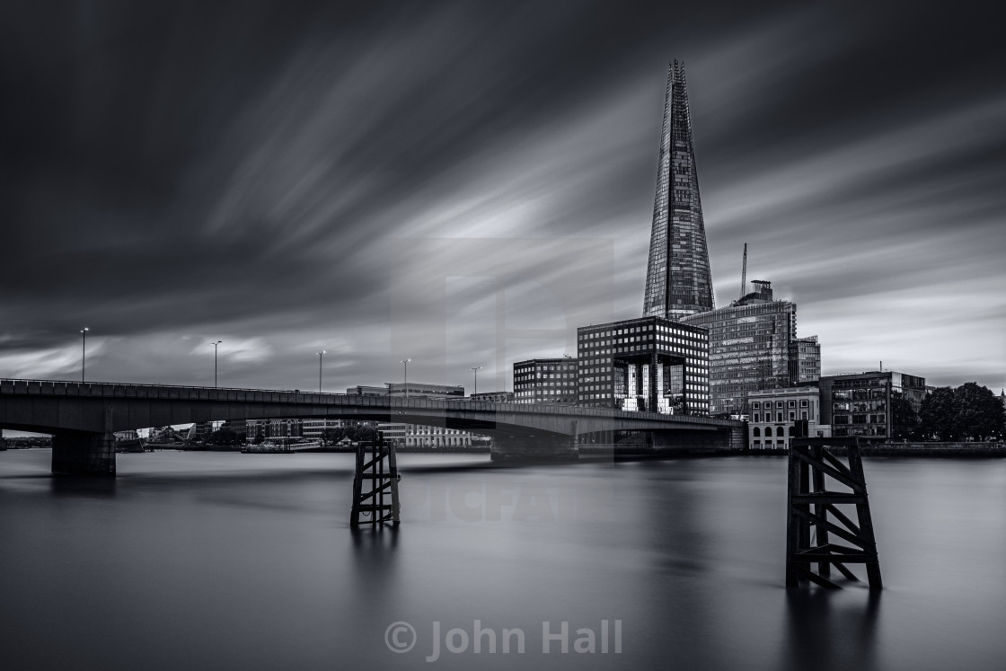 """The Shard in Monochrome"" stock image"