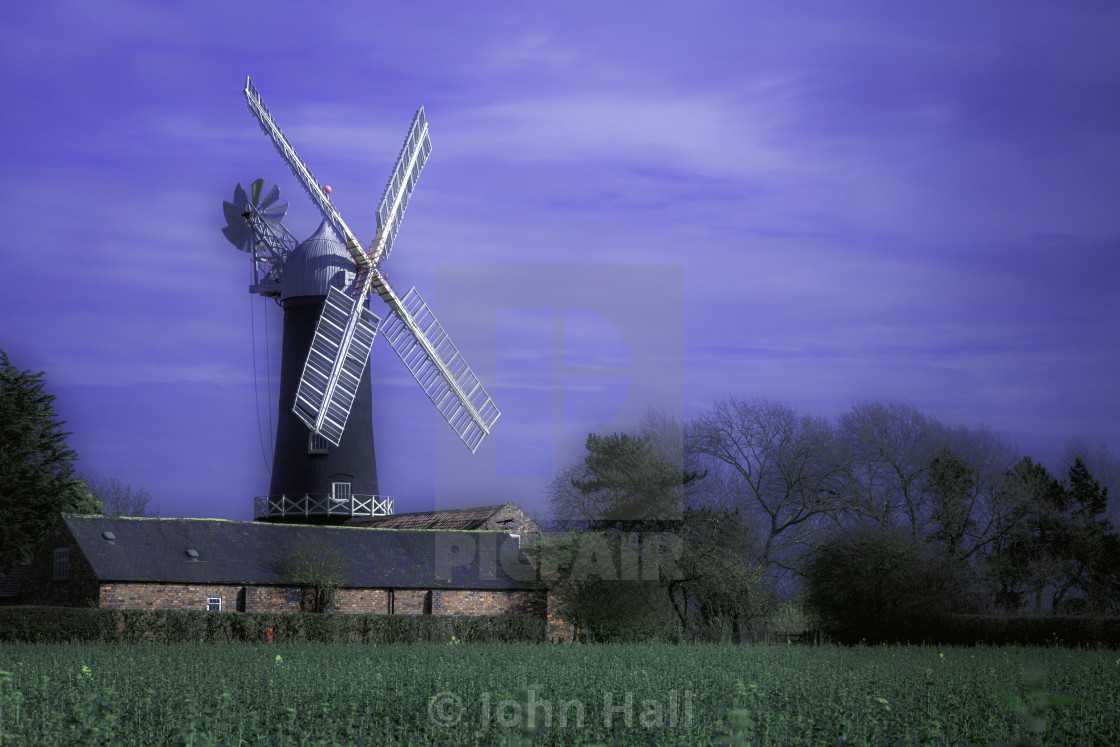 """Skidby Windmill, North Yorkshire"" stock image"