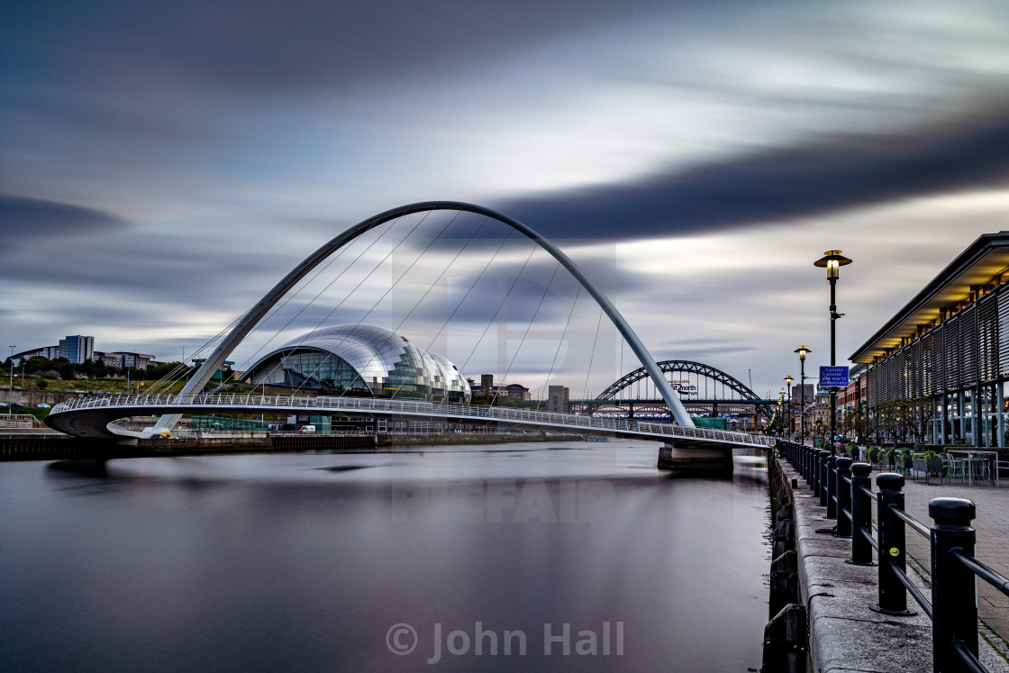 """Millennium Bridge, Newcastle, England"" stock image"