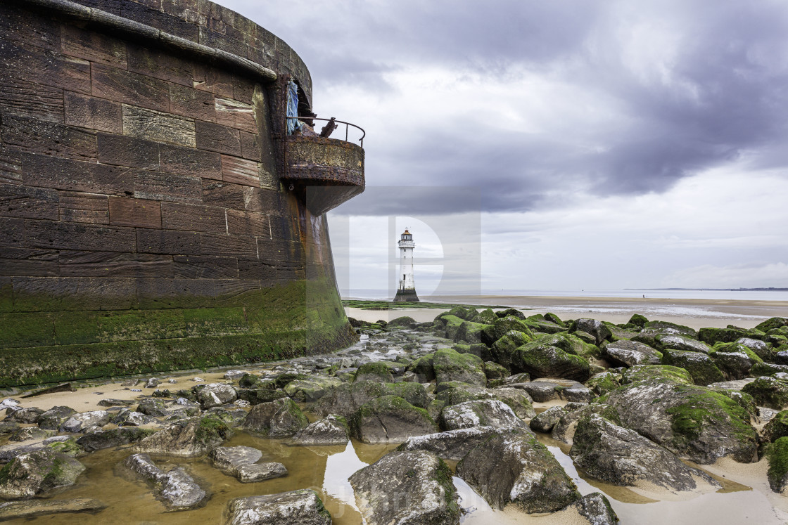 """New Brighton Lighthouse, England"" stock image"