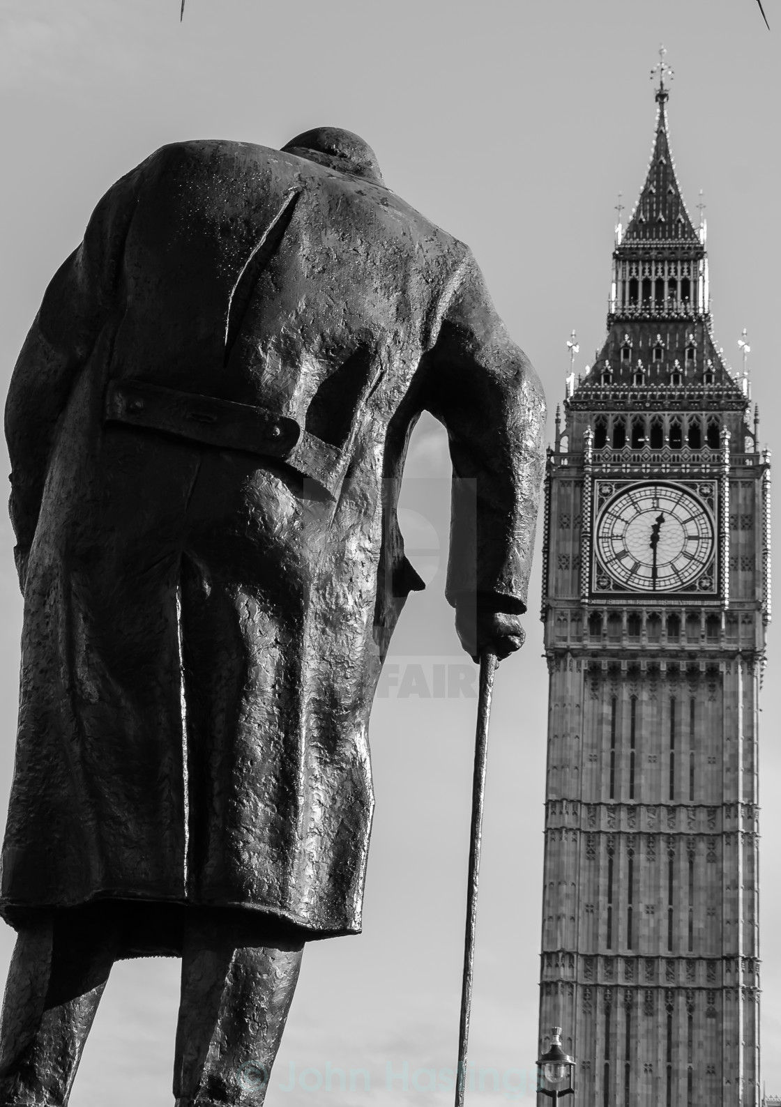 """Churchill and Big Ben"" stock image"
