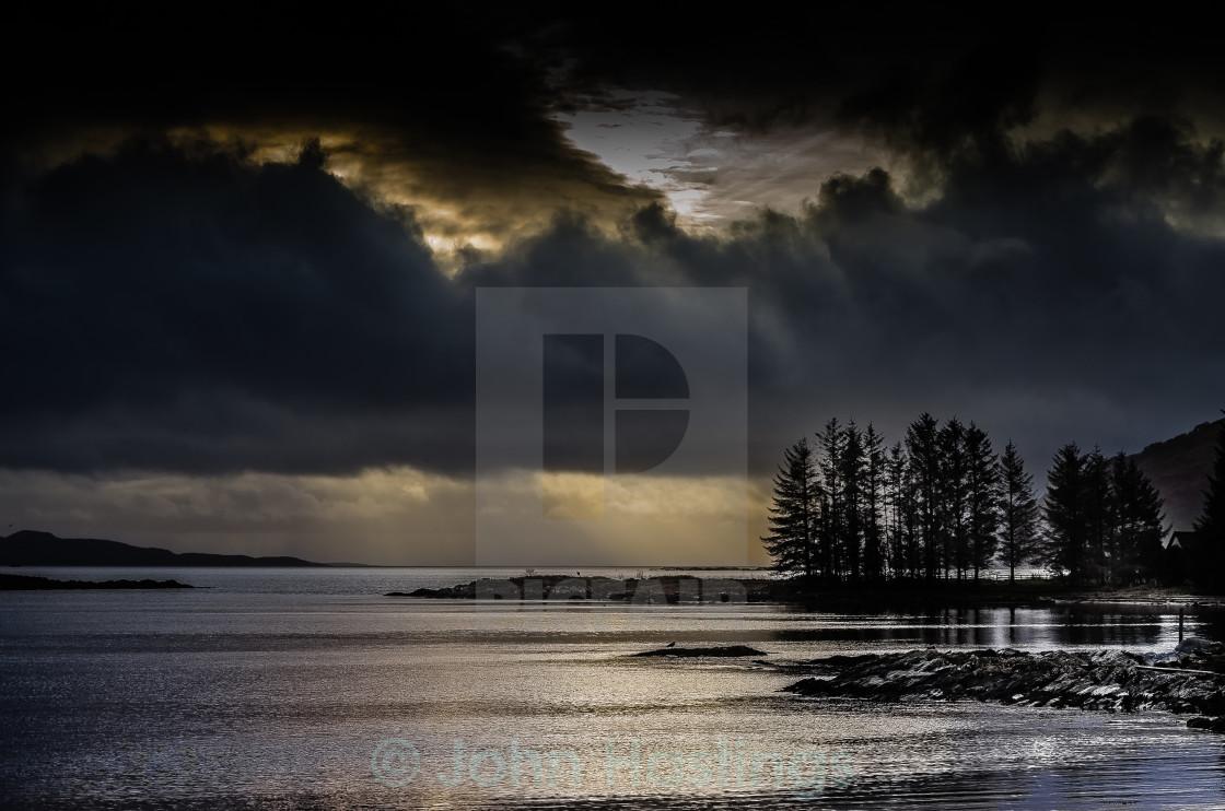 """Stormy Loch Fyne"" stock image"