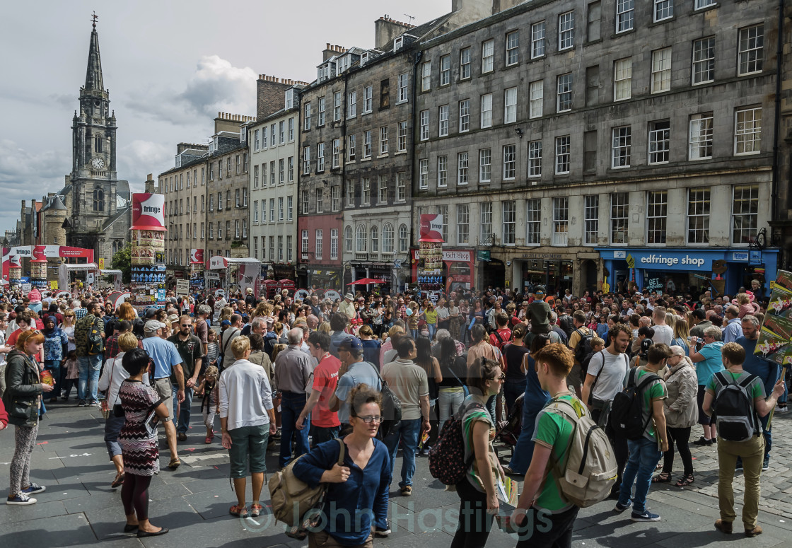 """Edinburgh Fringe"" stock image"