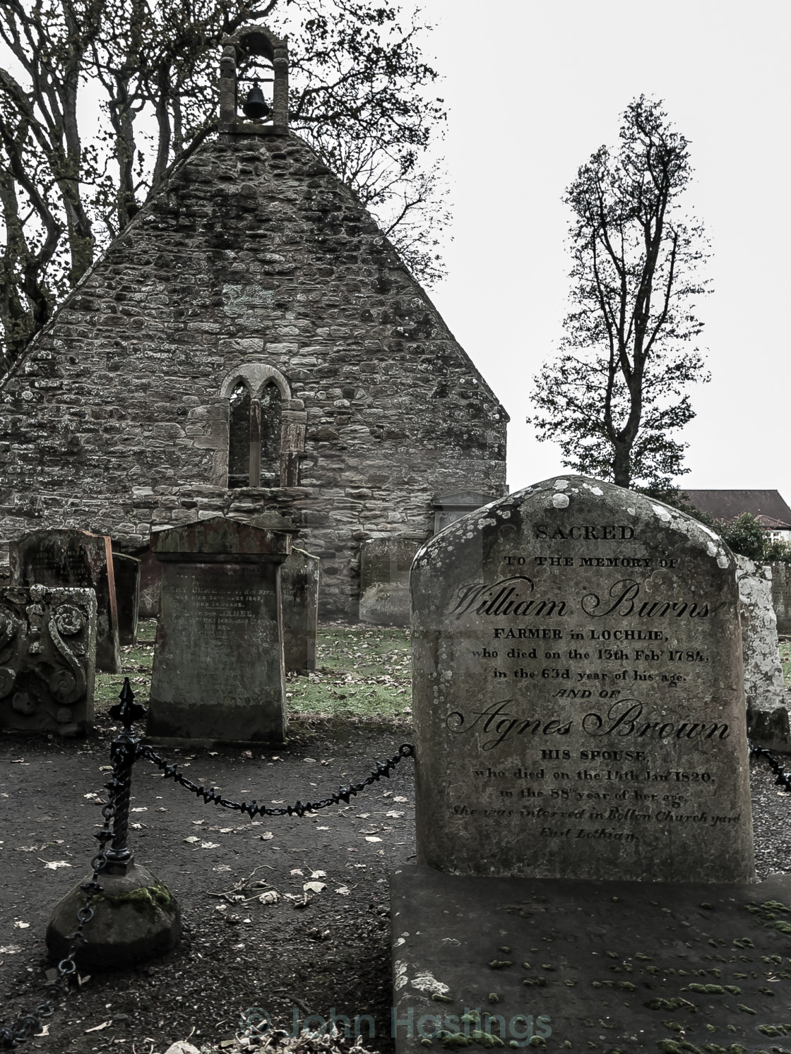 """Old Alloway Kirk"" stock image"