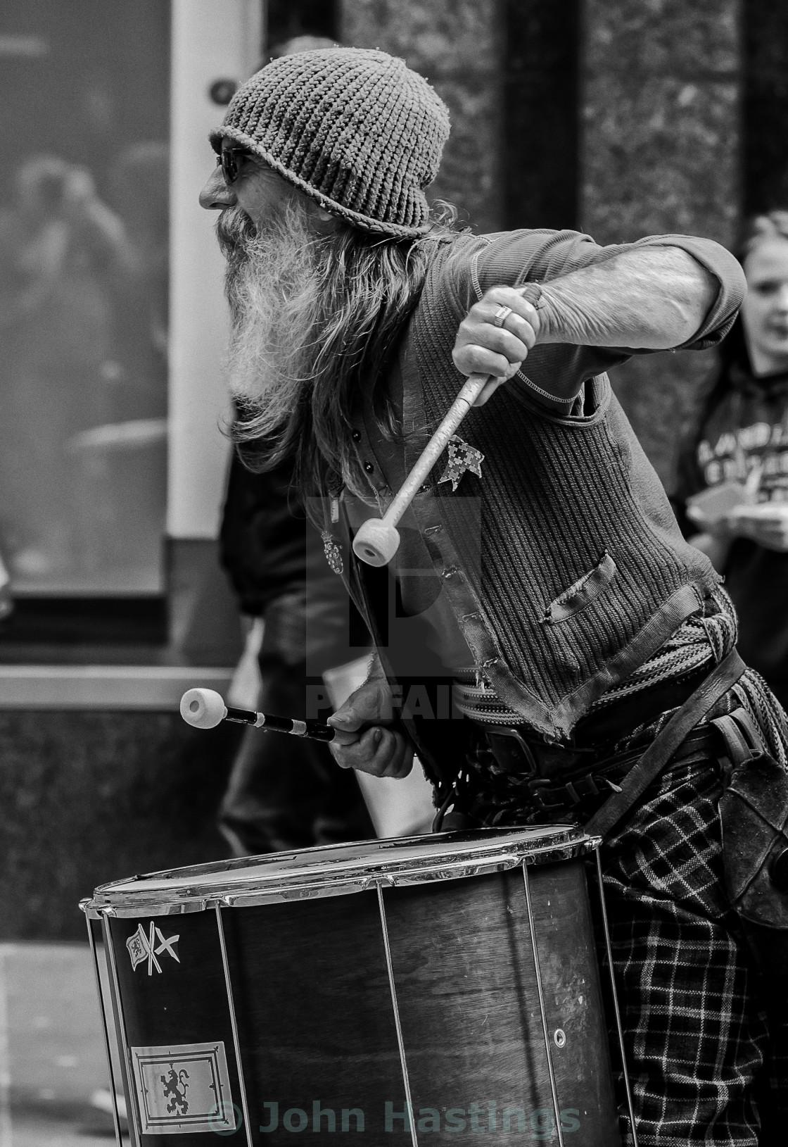 """Street Drummer, Glasgow"" stock image"