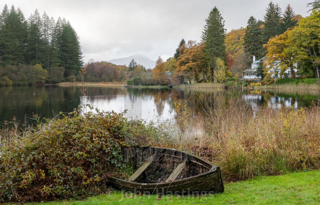 """Autumn at Loch Ard"" stock image"