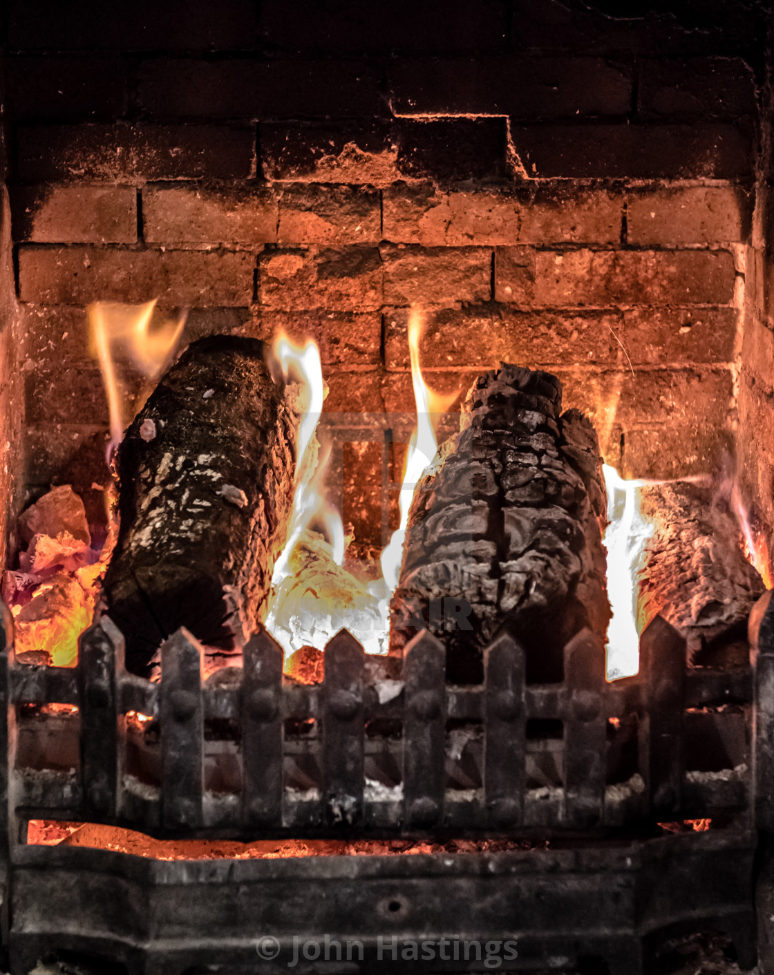 """Log Fire"" stock image"