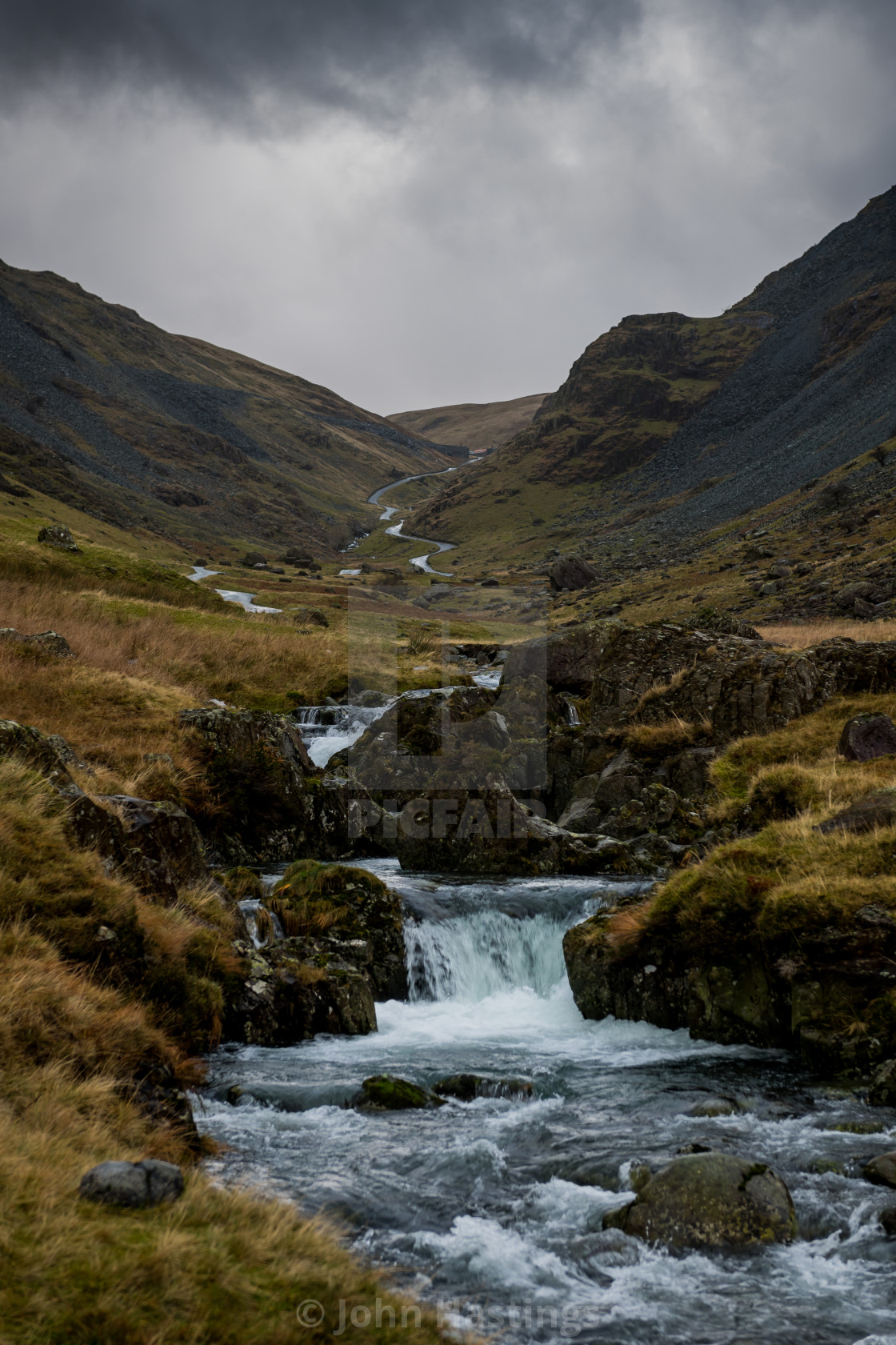 """The Honister Pass"" stock image"