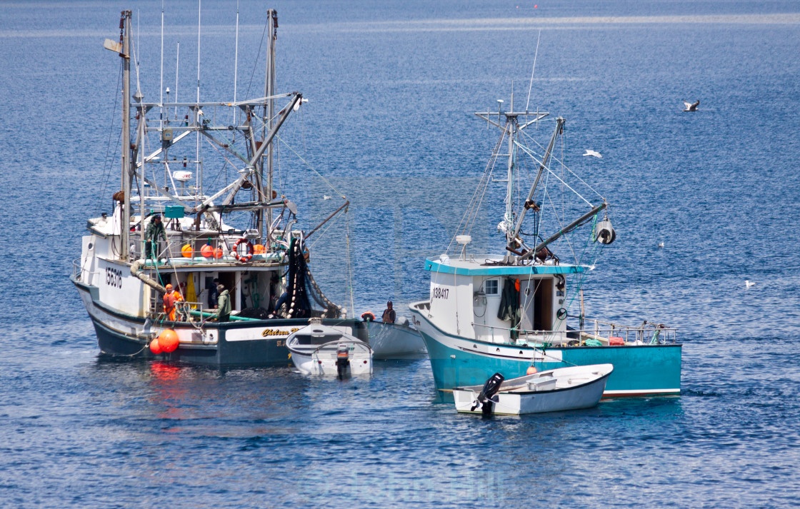"""Trawler Boats fishing"" stock image"