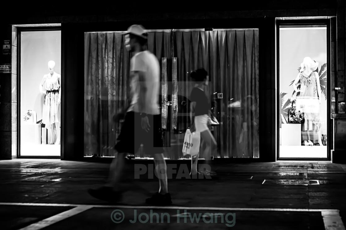 """Street Catwalk Night Show:-)"" stock image"