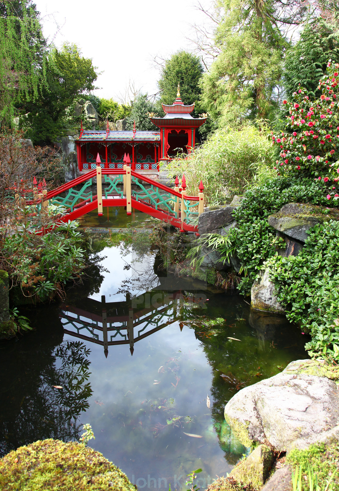 The Chinese Garden Bridge Pagoda And Lake At Biddulph Grange