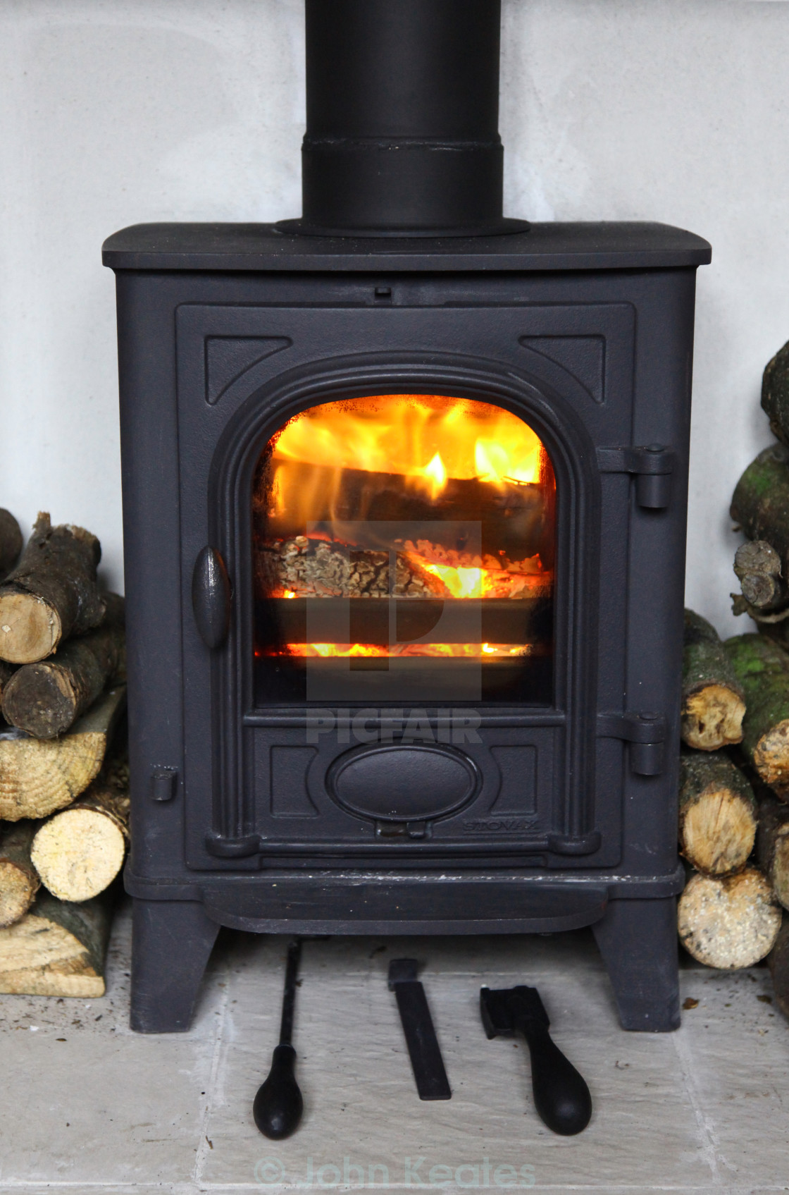 """Stovax Stockton 3 log burning stove"" stock image"