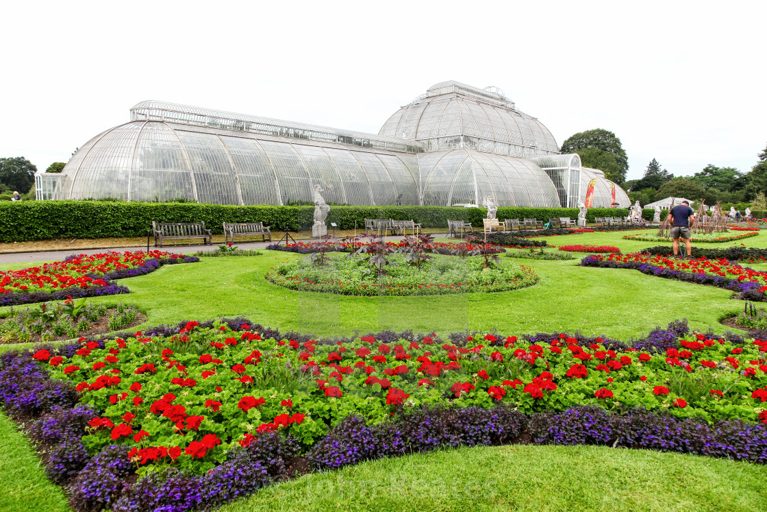 """The Palm House at Kew Royal Botanical Gardens London England UK"" stock image"